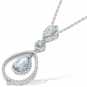 "J-Jaz Micro Pave Fancy Cz Pendant with 18"" Chain #2"